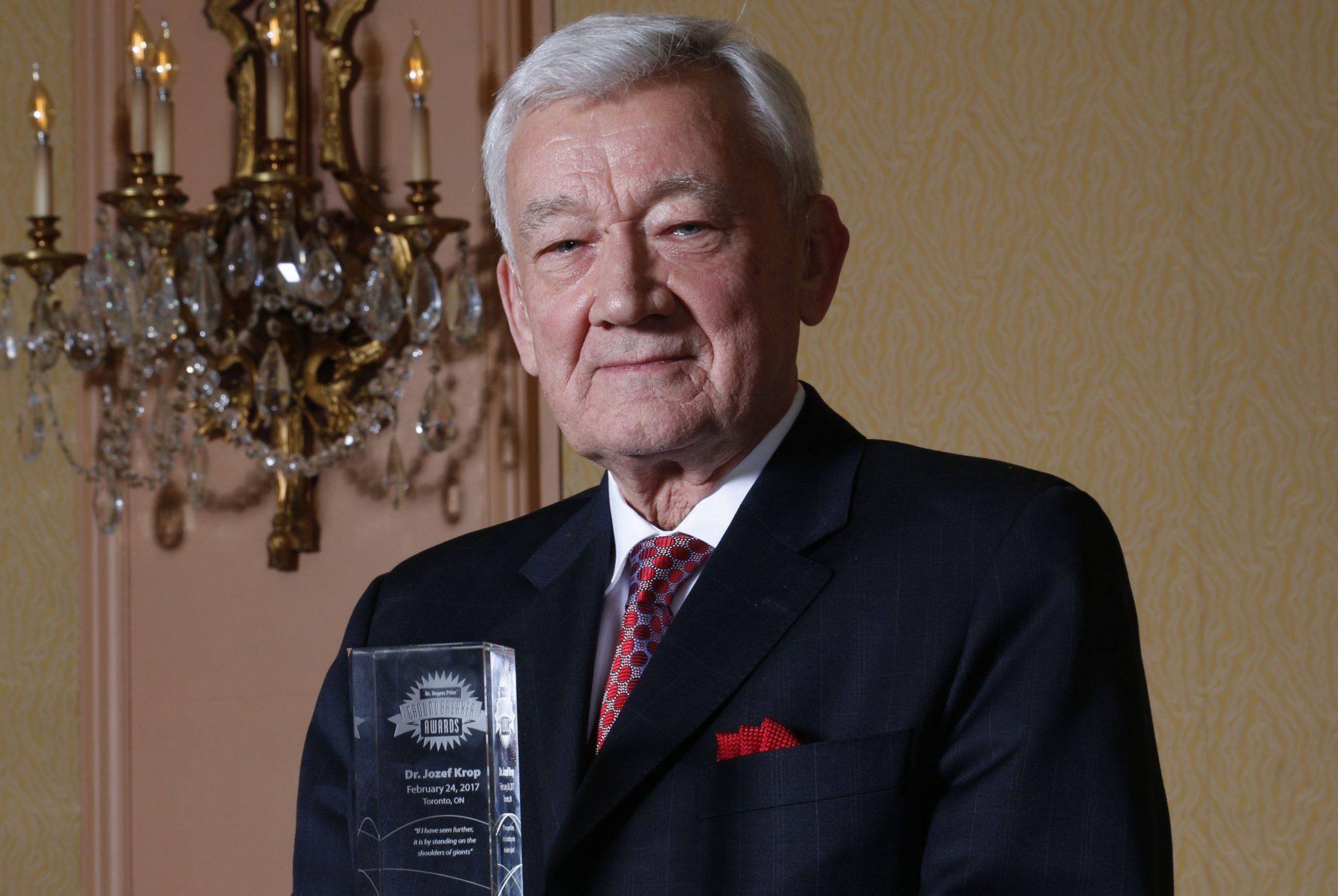 Dr. Jozef Krop - Dr. Rogers Prize Groundbreaker Award Winner